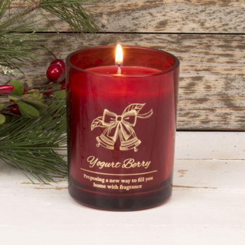 Red Christmas Scented Candle - Winter Berries Christmas Home Fragrance Candle Gift